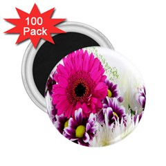 Pink Purple And White Flower Bouquet 2 25  Magnets (100 Pack)  by Simbadda
