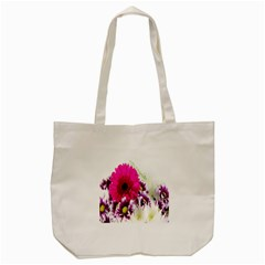 Pink Purple And White Flower Bouquet Tote Bag (cream) by Simbadda