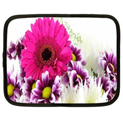 Pink Purple And White Flower Bouquet Netbook Case (xxl)  by Simbadda
