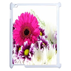 Pink Purple And White Flower Bouquet Apple Ipad 2 Case (white) by Simbadda