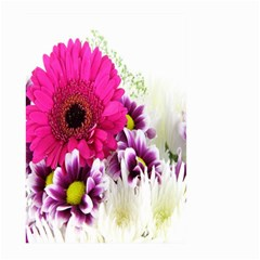 Pink Purple And White Flower Bouquet Large Garden Flag (two Sides) by Simbadda