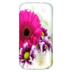 Pink Purple And White Flower Bouquet Samsung Galaxy S3 S Iii Classic Hardshell Back Case by Simbadda
