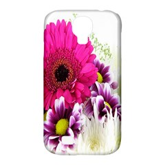 Pink Purple And White Flower Bouquet Samsung Galaxy S4 Classic Hardshell Case (pc+silicone) by Simbadda