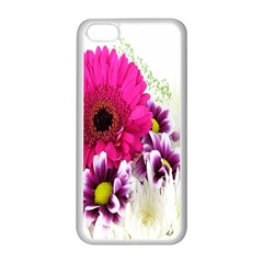 Pink Purple And White Flower Bouquet Apple Iphone 5c Seamless Case (white) by Simbadda