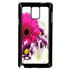 Pink Purple And White Flower Bouquet Samsung Galaxy Note 4 Case (Black) by Simbadda