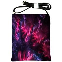 Abstract Fractal Background Wallpaper Shoulder Sling Bags by Simbadda