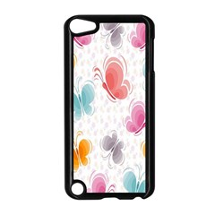 Butterfly Pattern Vector Art Wallpaper Apple Ipod Touch 5 Case (black) by Simbadda