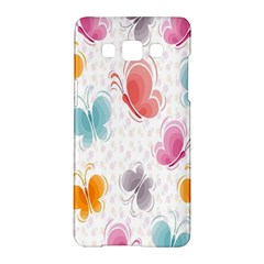 Butterfly Pattern Vector Art Wallpaper Samsung Galaxy A5 Hardshell Case  by Simbadda
