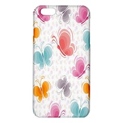 Butterfly Pattern Vector Art Wallpaper iPhone 6 Plus/6S Plus TPU Case by Simbadda