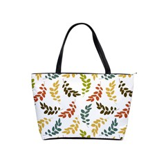 Colorful Leaves Seamless Wallpaper Pattern Background Shoulder Handbags by Simbadda