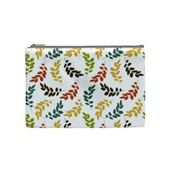 Colorful Leaves Seamless Wallpaper Pattern Background Cosmetic Bag (medium)  by Simbadda