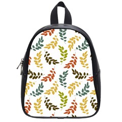 Colorful Leaves Seamless Wallpaper Pattern Background School Bags (small)  by Simbadda