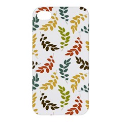 Colorful Leaves Seamless Wallpaper Pattern Background Apple Iphone 4/4s Premium Hardshell Case by Simbadda