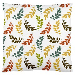 Colorful Leaves Seamless Wallpaper Pattern Background Large Cushion Case (two Sides) by Simbadda