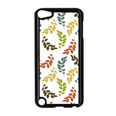 Colorful Leaves Seamless Wallpaper Pattern Background Apple Ipod Touch 5 Case (black) by Simbadda