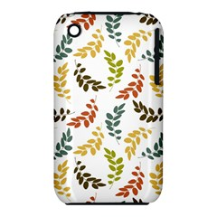 Colorful Leaves Seamless Wallpaper Pattern Background iPhone 3S/3GS