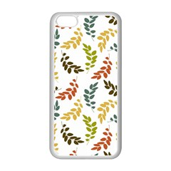 Colorful Leaves Seamless Wallpaper Pattern Background Apple Iphone 5c Seamless Case (white) by Simbadda