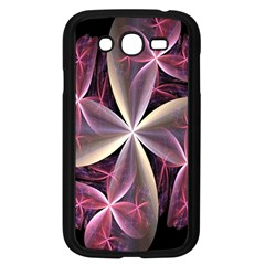 Pink And Cream Fractal Image Of Flower With Kisses Samsung Galaxy Grand Duos I9082 Case (black) by Simbadda