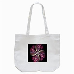 Pink And Cream Fractal Image Of Flower With Kisses Tote Bag (white) by Simbadda