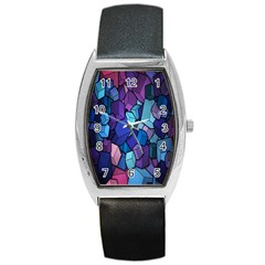 Cubes Vector Art Background Barrel Style Metal Watch by Simbadda