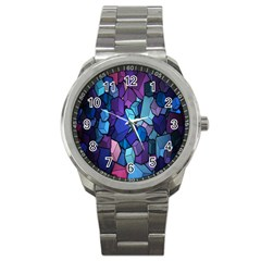 Cubes Vector Art Background Sport Metal Watch by Simbadda