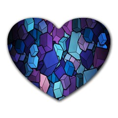 Cubes Vector Art Background Heart Mousepads by Simbadda