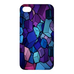 Cubes Vector Art Background Apple Iphone 4/4s Hardshell Case by Simbadda
