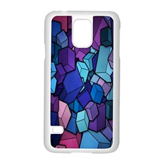 Cubes Vector Art Background Samsung Galaxy S5 Case (white) by Simbadda