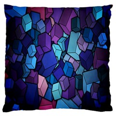 Cubes Vector Art Background Standard Flano Cushion Case (one Side) by Simbadda