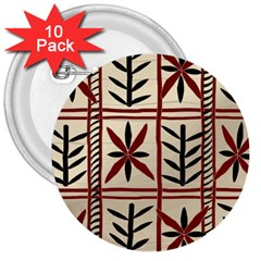 Abstract A Colorful Modern Illustration Pattern 3  Buttons (10 Pack)  by Simbadda