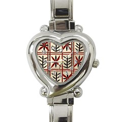 Abstract A Colorful Modern Illustration Pattern Heart Italian Charm Watch by Simbadda