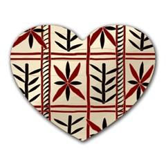 Abstract A Colorful Modern Illustration Pattern Heart Mousepads by Simbadda