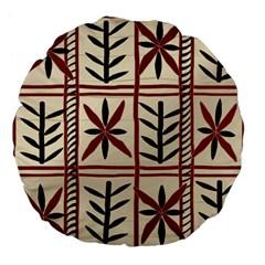 Abstract A Colorful Modern Illustration Pattern Large 18  Premium Flano Round Cushions by Simbadda