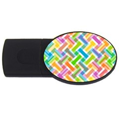 Abstract Pattern Colorful Wallpaper Background Usb Flash Drive Oval (4 Gb) by Simbadda