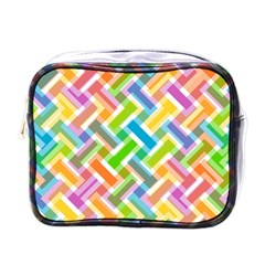 Abstract Pattern Colorful Wallpaper Background Mini Toiletries Bags by Simbadda