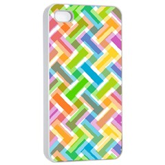 Abstract Pattern Colorful Wallpaper Background Apple Iphone 4/4s Seamless Case (white) by Simbadda