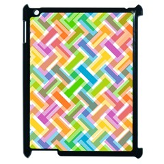 Abstract Pattern Colorful Wallpaper Background Apple Ipad 2 Case (black) by Simbadda