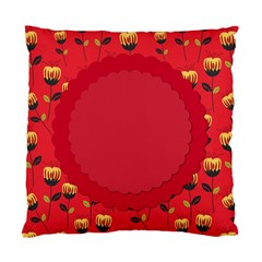 Floral Roses Pattern Background Seamless Standard Cushion Case (one Side) by Simbadda