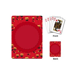 Floral Roses Pattern Background Seamless Playing Cards (mini)  by Simbadda
