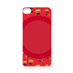 Floral Roses Pattern Background Seamless Apple Iphone 4 Case (white) by Simbadda