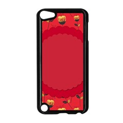 Floral Roses Pattern Background Seamless Apple Ipod Touch 5 Case (black) by Simbadda