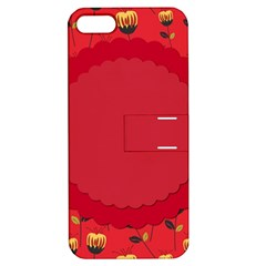 Floral Roses Pattern Background Seamless Apple Iphone 5 Hardshell Case With Stand by Simbadda