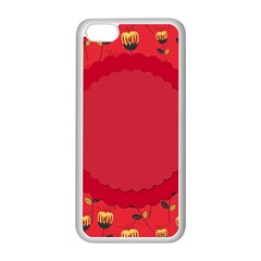 Floral Roses Pattern Background Seamless Apple Iphone 5c Seamless Case (white) by Simbadda
