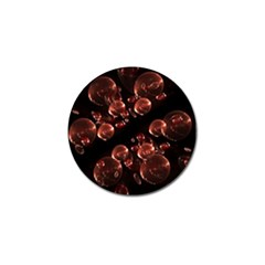 Fractal Chocolate Balls On Black Background Golf Ball Marker (10 Pack) by Simbadda
