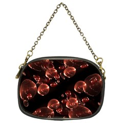 Fractal Chocolate Balls On Black Background Chain Purses (one Side)  by Simbadda