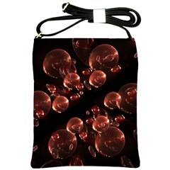 Fractal Chocolate Balls On Black Background Shoulder Sling Bags by Simbadda