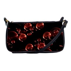 Fractal Chocolate Balls On Black Background Shoulder Clutch Bags by Simbadda