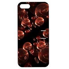 Fractal Chocolate Balls On Black Background Apple Iphone 5 Hardshell Case With Stand by Simbadda