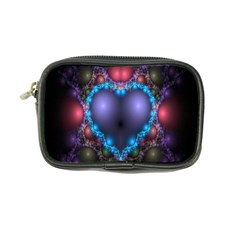 Blue Heart Fractal Image With Help From A Script Coin Purse by Simbadda