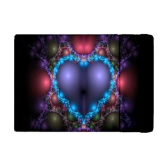 Blue Heart Fractal Image With Help From A Script Ipad Mini 2 Flip Cases by Simbadda